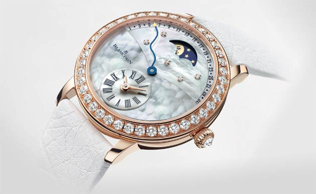 Blancpain marries femininity and artistry in its latest Quantième Rétrograde ladies wrist watch