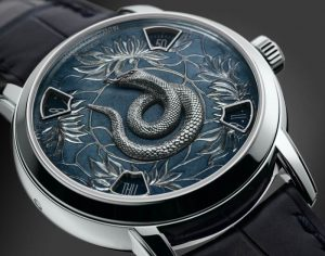 Using the Jianzhi technique, the animals of the Zodiac are sculpted into mini works of art, a skill that Vacheron Constantin wanted to bring into the new Legend of the Chinese Zodiac collection. Using the renowned skills of their in-house experts, engravers, enamellers and artists have alternated in pairs to bring this intricate skill on and into the new models. The new twelve piece series is crafted in platinum or pink gold and will be available from the brands own-name boutiques around the world.
