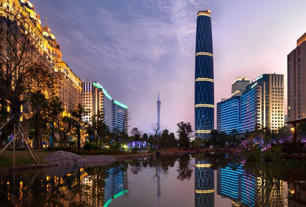 Rising 103 storeys above the Pearl River, the Four Seasons Guangzhou occupies the top third of the new Guangzhou IFC between the 74th and 98th floors. Arranged around a breath-taking full-height atrium, and taller than St Paul's Cathedral in London or the Statue of Liberty in New York,