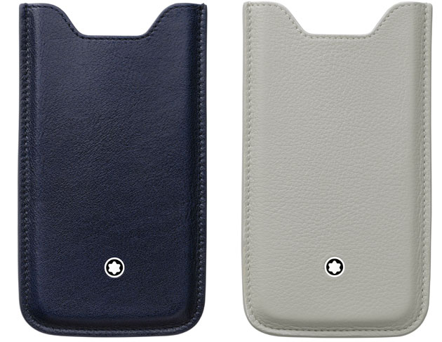To celebrate Valentine's Day 2013, the annual celebration of love, Montblanc has introduced a winning duo from the Meisterstück Selection leather collection: Smartphone Holders for the Apple iPhone 5 in navy and grey.
