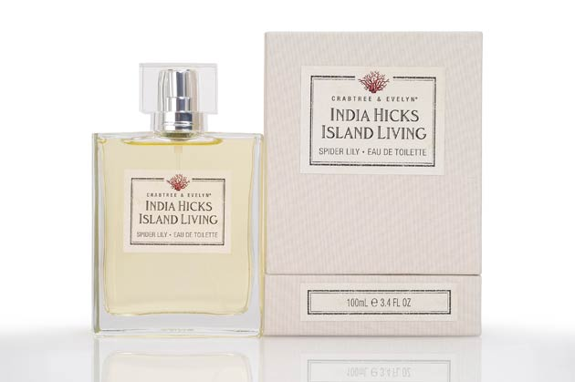 Her body and home collection, aptly named Island Living for Crabtree & Evelyn is an encapsulation of all the things she loved about her home and living on an exotic gem of an island. India, who happens to be the daughter of renowned British interior designer, David Hicks and goddaughter to Prince Charles, was inspired by all her senses – island folklore, her favourite island flower, the natural vegetation, classic West Indian style and antique maps.