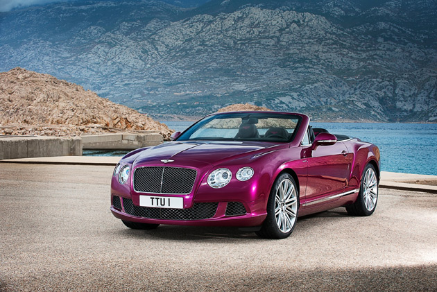 European debut of world's fastest four-seat convertible, the Bentley GT Speed Convertible