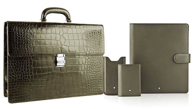 Montblanc Designs Meisterstück Leather Selection Exclusively For Harrods