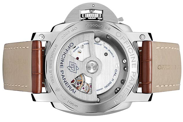 The timepiece houses an automatic P.9000 calibre movement boasting a power reserve of three days, which has been completely developed and made in the company's manufacture at Neuchâtel.