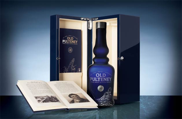 Luxurious Beverage Of The Month: Old Pulteney 40 Year Old Whisky.