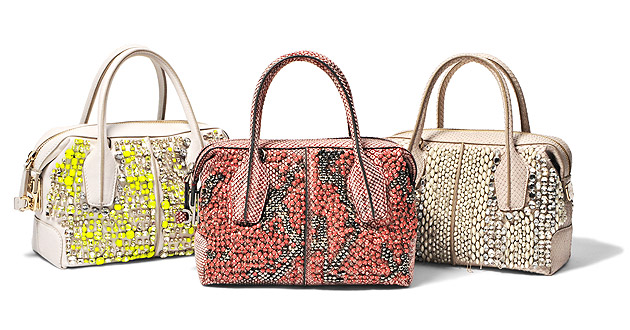 """Inspired by the world of couture, the Tod's D-Bag """"Couture"""" Collection is made using the finest materials by skilled artisans which create one-off limited edition pieces for a highly discerning clientele."""