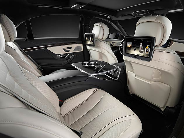 For passengers seated in the rear, the experience is simply first-class – the design and exclusivity of the seats, door panels and all controls continue the high-quality theme as witnessed in the front of the vehicle.