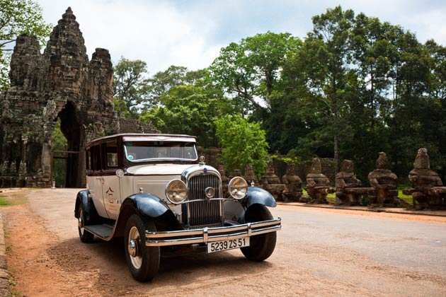 One of the highlights of the Victoria Angkor is their collection of vintage Citroën cars. Embark on a journey into the past while being chauffeured with these vintage Citroën cars.