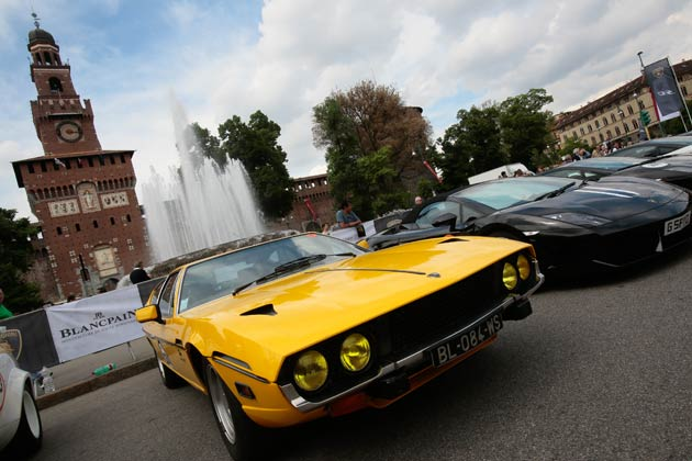 A convoy of 350 Lamborghini super sports cars will leave from Milan on 8 May, as the biggest reunion ever of cars from the House of the Raging Bull start their Grand Tour as part of Lamborghini's 50th Anniversary celebrations.