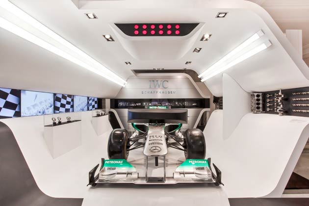 MERCEDES AMG PETRONAS Formula One™ simulator show car, which allows visitors to immerse themselves in the dynamic world of racing