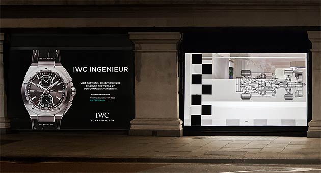 IWC Shaffhausen's pop-exhibition at Selfridges Wonder Room in London
