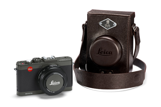 The body of the Leica D-Lux 6 'Edition by G-Star RAW' is dressed in the typical RAW house style, and incorporates the slogan 'LEICA BY G-STAR RAW… JUST THE PRODUCT'.