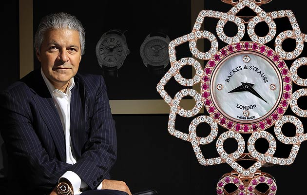 Mr. Vartkess Knadjian, CEO of Backes and Strauss and the Victoria Princess Red Heart for Only Watch.