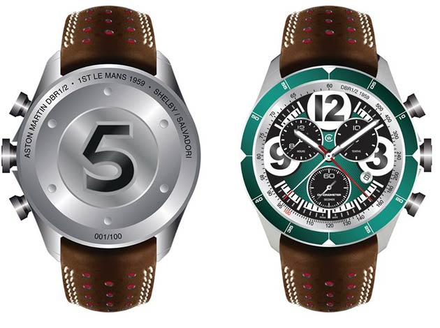 Christopher Ward Watches create limited edition homage to 1959 Le Mans winning Aston Martin DBR1/2