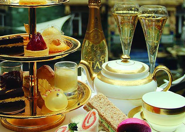24 Karat Gold Afternoon Tea with Luxor Champagne at 51 Buckingham Gate