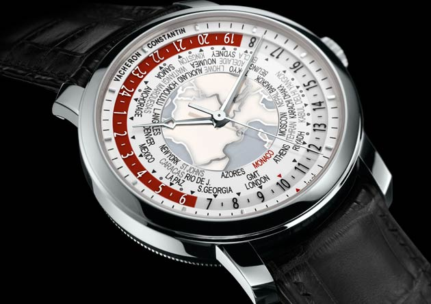 Vacheron Constantin Patrimony Traditionnelle World Time for Only Watch 2013 - Enhanced reading of all the world's time zones.