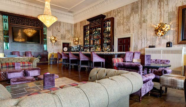 The bar at Seaham Hall