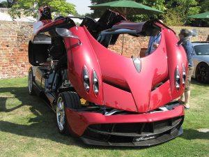 Pagani Automobili presented the Transformer-like Pagani Huayra at this year's Salon Privé