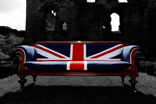 William IV Union Jack sofa