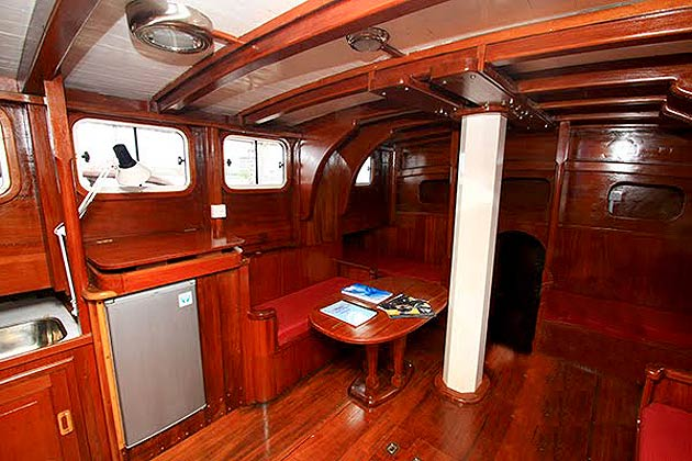 The Warisan Duyong interior is constructed from Chengal wood