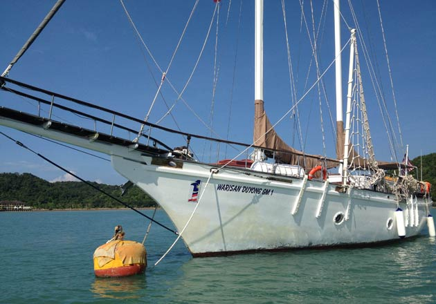 The 60 feet Warisan Duyong was built in the Malaysian East-coast state of Terengganu