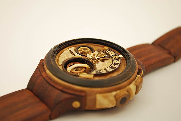 Valerii Danevych Retrograde Wooden Wristwatch