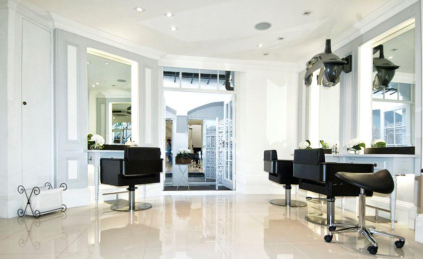 Inside the Daniel Galvin Junior salon in London.