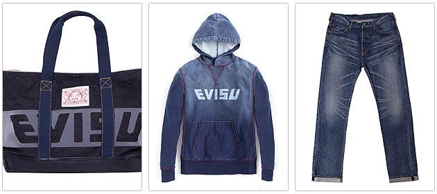 Japanese denim brand Evisu.