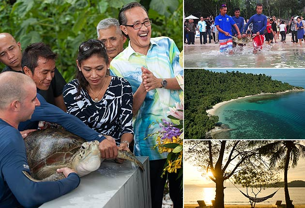 The Gaya Island Resort Marine Centre is officially open