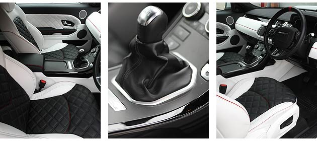 Slip into the cabin of the Dakar Evoque and you'll see further interesting details designed to complement its eye-catching exterior appeal