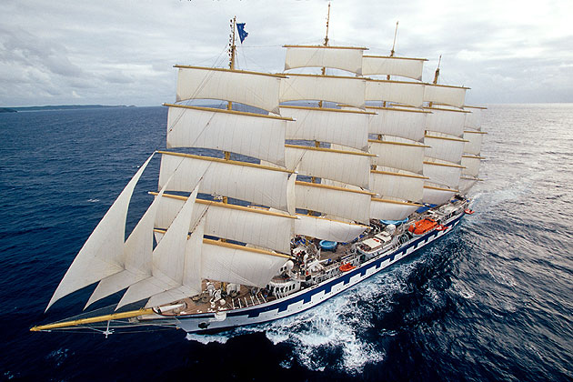 Star Clippers flagship, the 227-passenger Royal Clipper