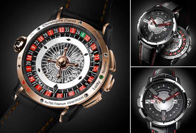 First we had the amazing 21 Blackjack and Baccara timepieces, now from Christophe Claret comes Poker, another extraordinary horological creation.