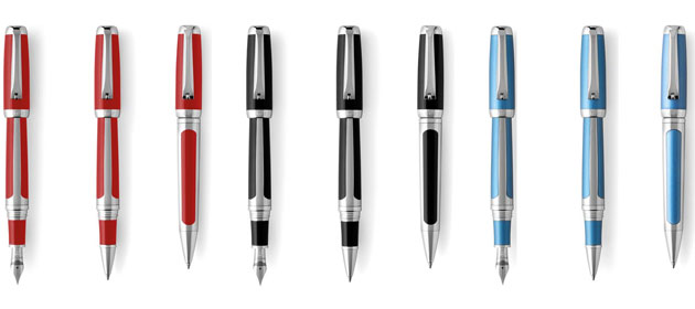 As is the tradition with all Tibaldi for Bentley pens, the GT Collection will include a fountain pen, rollerball pen and ballpoint pen, offered in four hues. - Beluga Black, Silverlake Blue, St James Red and Silver Tempest
