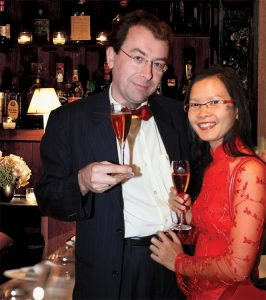 Christian Briard - CEO & Founder at Champagne Christian Briard and his lovely wife Nam Hoa Briard
