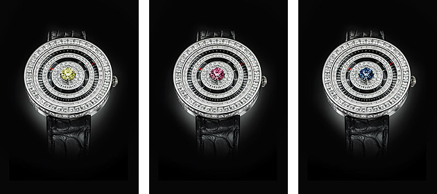 But the magnificent 'jester' diamond is not the only amusing aspect of this small and very special line of watches, each of which will be a bespoke piece with a different central stone.