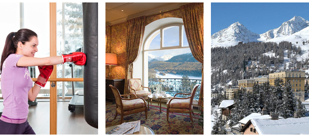 If the combination of luxury accommodation and an opportunity to get fit has whetted your appetite, Kulm Hotel St. Moritz has a special package called the Kulm Spa Closeup,