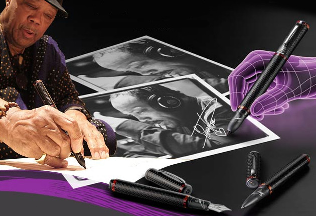Italian luxury brand Montegrappa announced a new pen collection, endorsed by musician, Quincy Jones