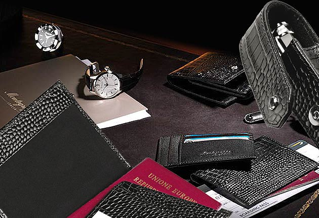 Montegrappa unveils a new collection of small leather goods.