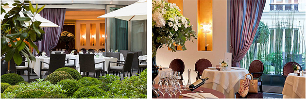 Located at the heart of the Hôtel Fouquet's Barrière and opening out onto the magnificent garden, the gourmet Le Diane restaurant is a true haven of peace. The intimate, elegant and refined setting invites patrons to savour a unique moment of pleasure and taste.