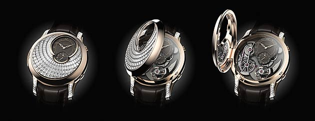 What has 181 invisibly set baguette diamonds amounting to nearly 7 carats and a movement awarded the Best Men's Complications Watch at the 2013 Grand Prix d'Horlogerie de Genève? Well, it's no longer a secret, it's the stunning Logical One Secret by Romain Gauthier.