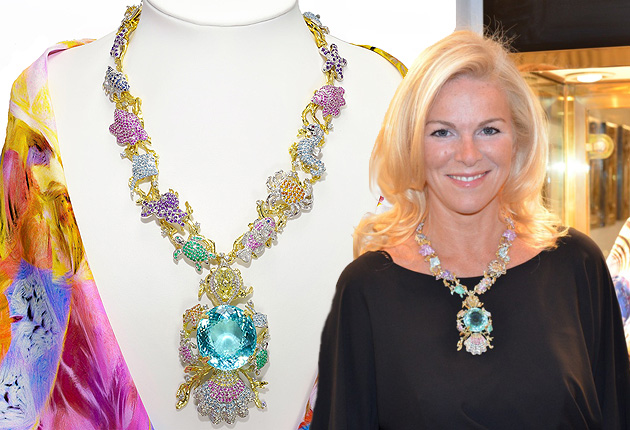 The Paraiba Star of the Ocean Jewels Necklace