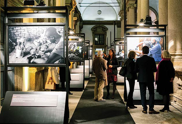 "Swiss luxury watch-brand, Vacheron Constantin has inaugurated the photographic exhibition ""Transmettre. Percorsi di sapere"", fourth edition's first event of Trade Art European Days"