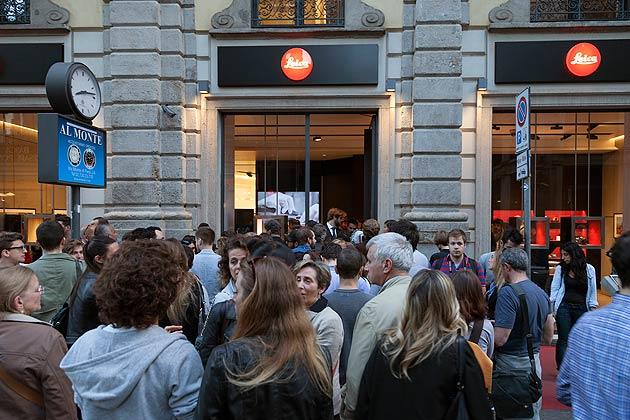 Photographer, Simone Zeffiro Attends the Official Opening of Leica Galerie Milan