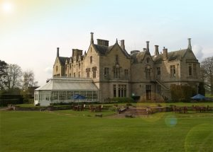 The relaxing grounds at the Roxburghe Hotel and Golf Course