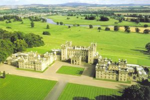 Floors Castle is just a short drive from the Roxburghe Hotel and Golf Course