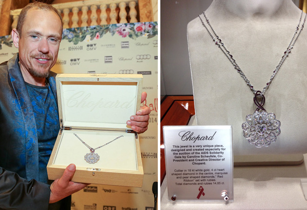 """Chopard was the """"presenting partner"""" of the AIDS Solidarity Gala 2014 in Vienna"""