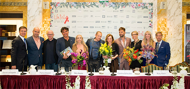 "For the second time the House of Chopard is the proud ""presenting partner"" of the AIDS Solidarity Gala 2014 in the Viennese Hofburg Palace, hosted by UNAIDS and AIDS LIFE."