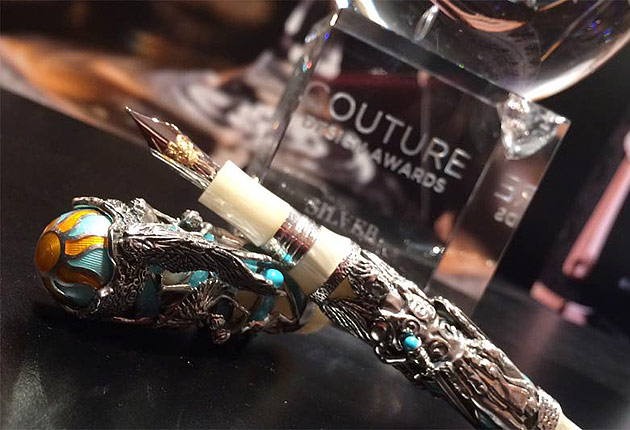 Montegrappa's 'My Guardian Angel' Pen wins award at the Couture Design Awards in Las Vegas