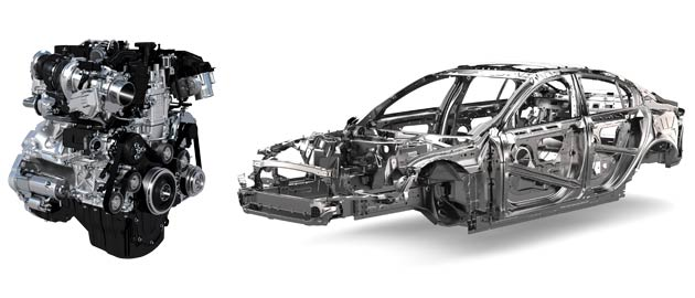 The XE is the only car in the class to use an aluminium-intensive monocoque, with lightweight aluminium accounting for 75 per cent of the structure (Jaguar like the number 75!).