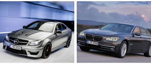 Mercedes-Benz and BMW